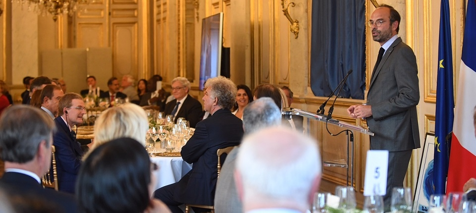 French PM during his speech at the Europlace annual dinner
