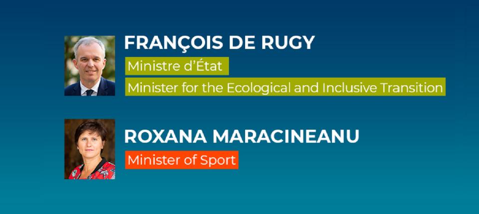 Portraits of Ministers François de Rugy and Roxana Maracineanu