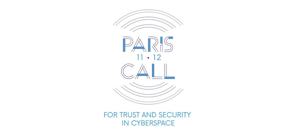 Logo of Paris call fo cybersecurity