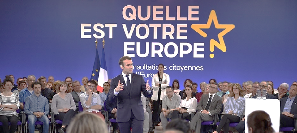 French President of the Republic speaking at Epinal meeting