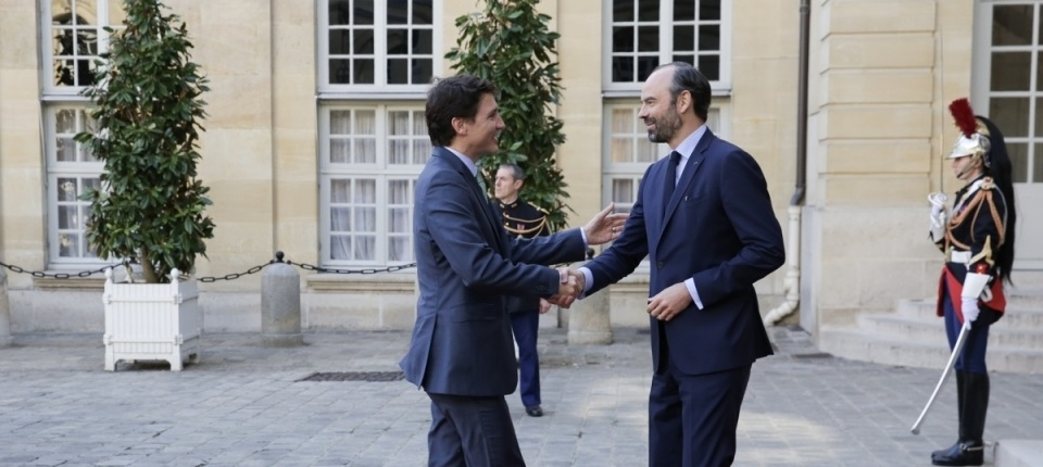 Justine Trudeau and Edouard Philippe
