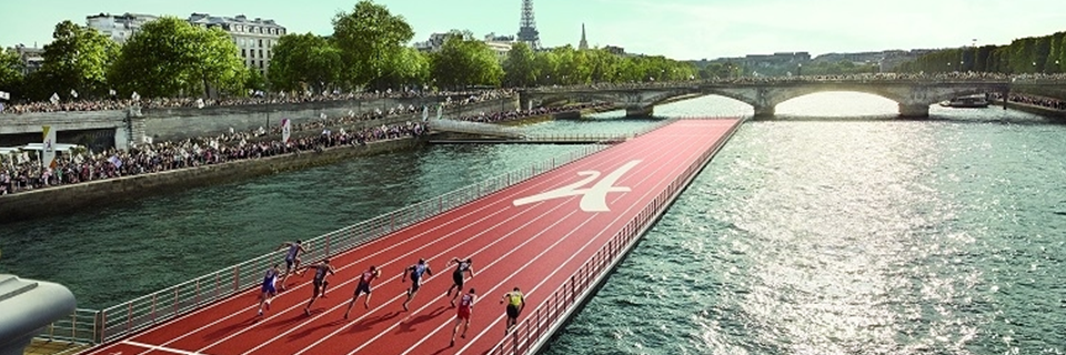 Olypmic games on the Seine river