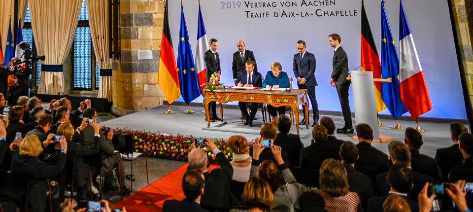 Siging of Aachen Treaty