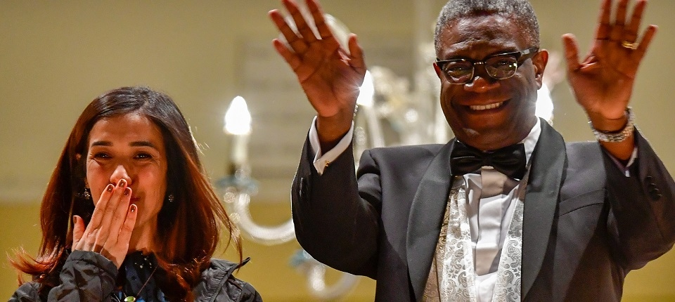 Denis Mukwege and Nadia Murad