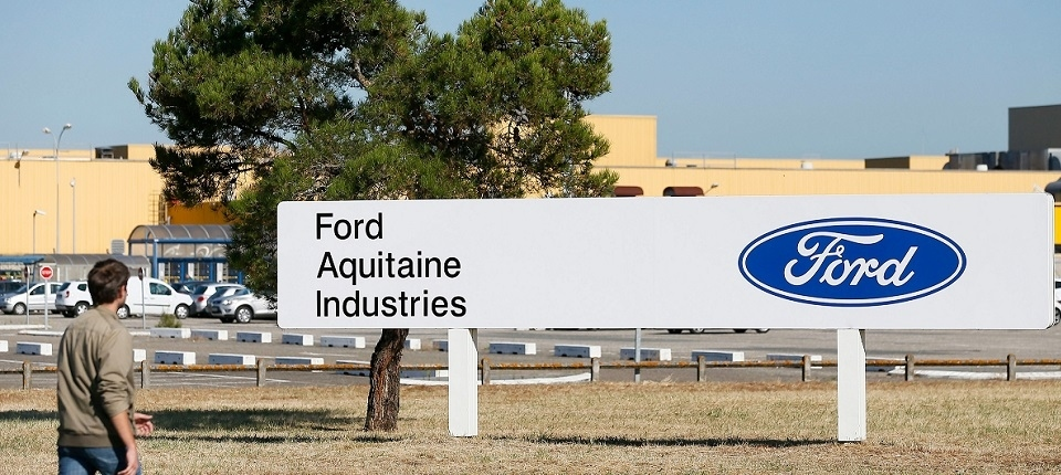 Ford company entrance at Blanquefort