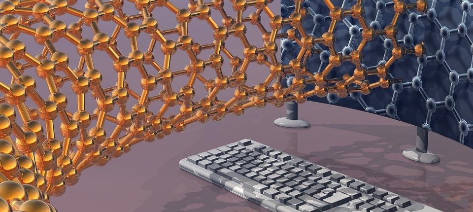 Nanotechnology research, conceptual computer artwork