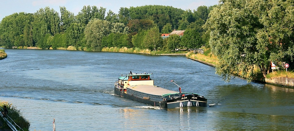A barge in France