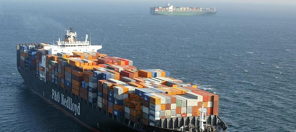 Big ship near Le Havre