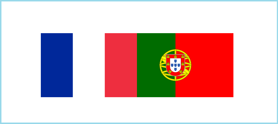 French and Portuguese flags