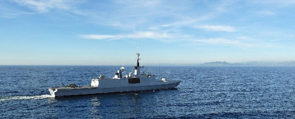 Courbet frigate