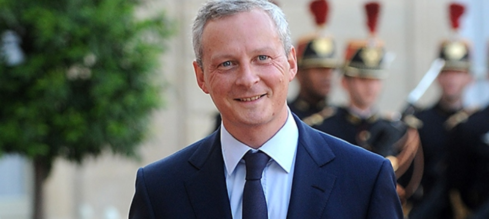 Portrait of France's Economy Minister Bruno Le Maire