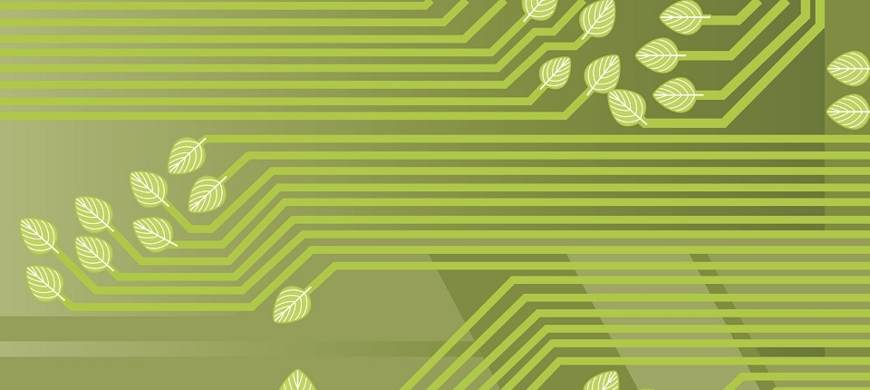 """A simple background to illustrate the concept of """"green technology"""""""