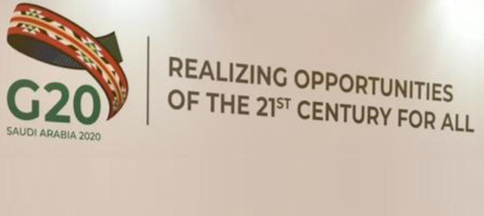 G20 logo and motto