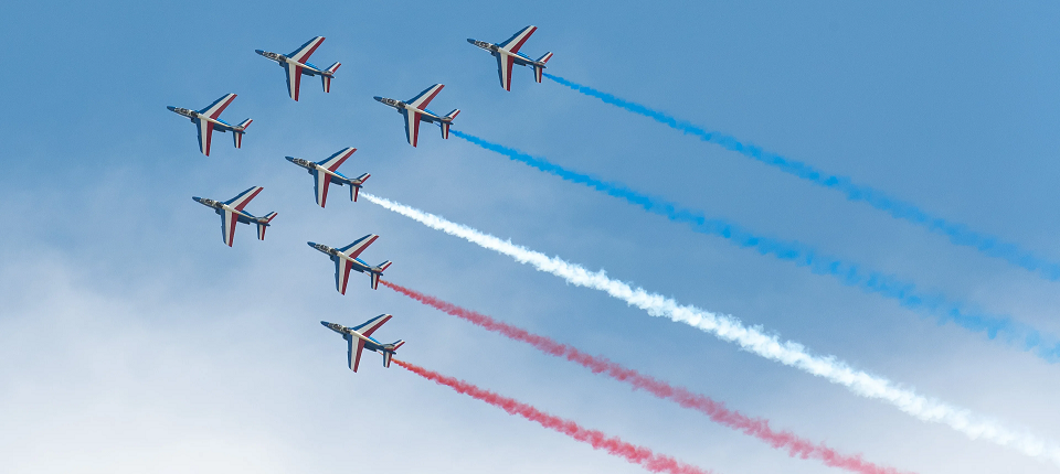 French Air Force Aerobatic Team's planes