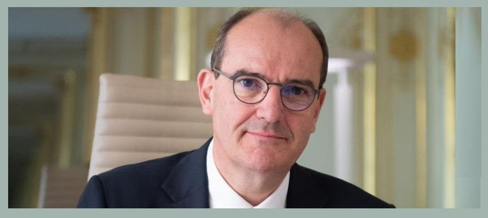 Portrait of France's Prime Minister, Jean Castex