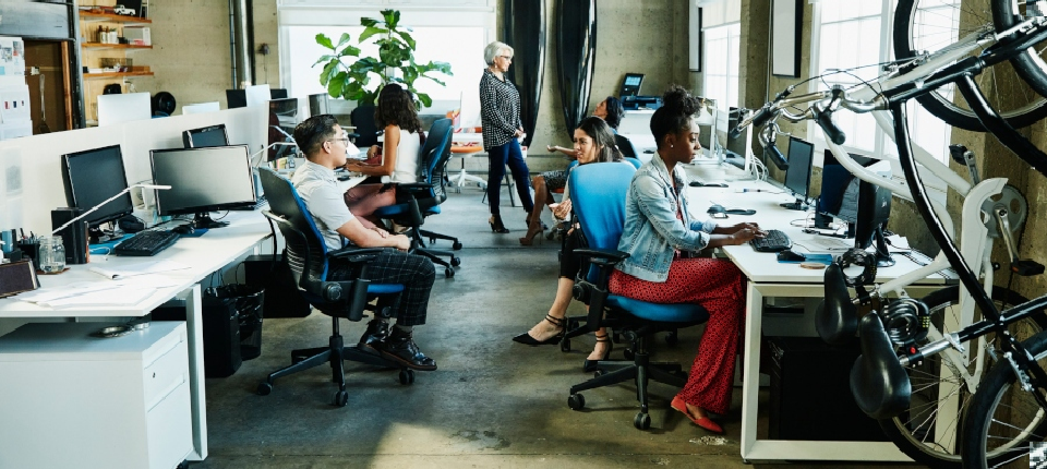 Workers in a startup