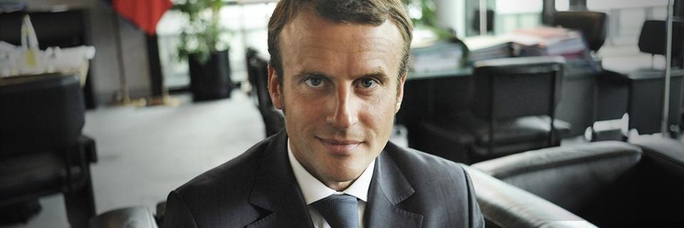 Portrait de Emmanuel Macron