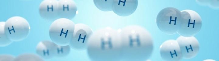 Images représentant des molécules de dihydrogène