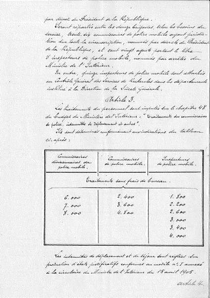 Décret du 30 décembre 1907 à l'origine de la Police judiciaire