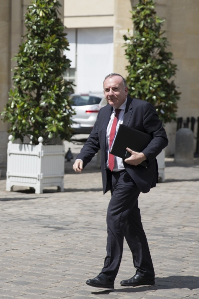 Pierre Gattaz, président du Medef, à Matignon - mercredi 24 mai