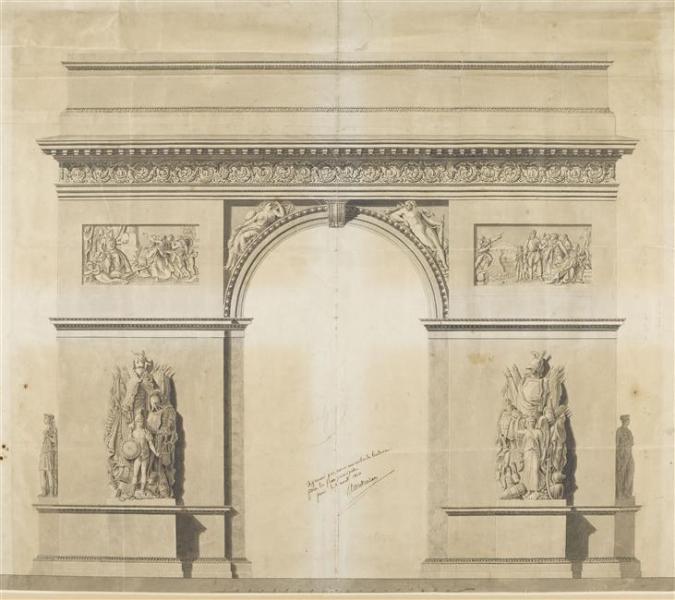Jean-François Chalgrin (1739-1811). Projet pour l'arc de triomphe de l'Étoile