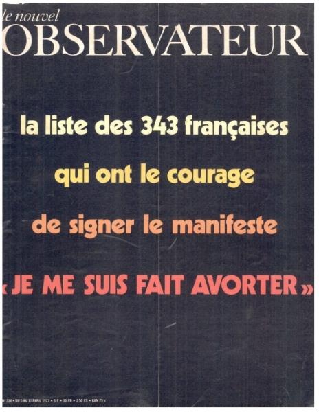 La couverture du magazine du Nouvel observateur