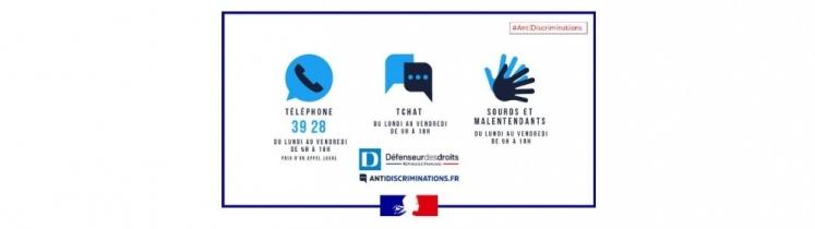 Les visuels de la plateforme anti-discriminations