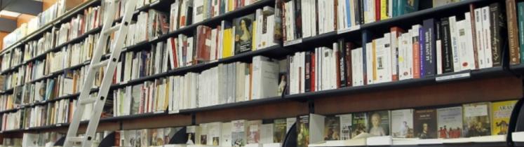 Intérieur d'une librairie
