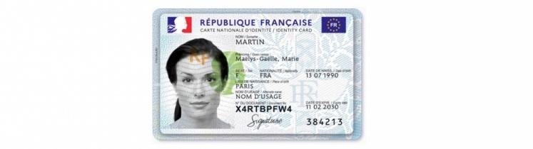 Face avant de la nouvelle carte nationale d'identité