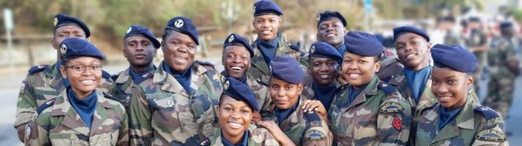De jeunes militaires du RSMA-Mayotte