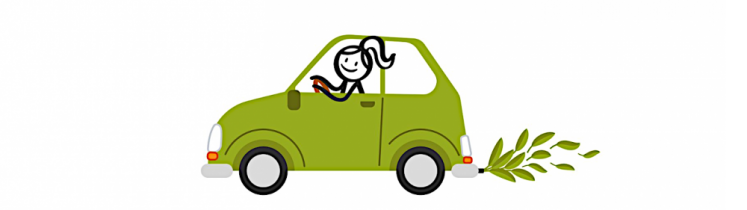 Dessin de voiture non polluante