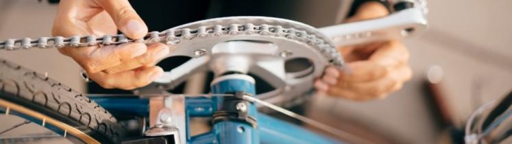 Une chaîne de vélo