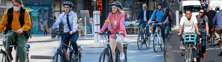 Barbara Pompili à vélo
