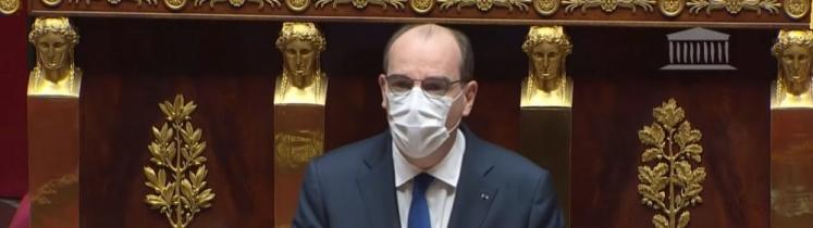 Le Premier ministre Jean Castex à l'Assemblée nationale le 1er avril 2021