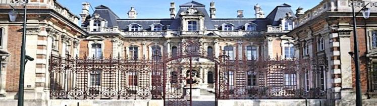 Facade du Chateau Perrier à Épernay