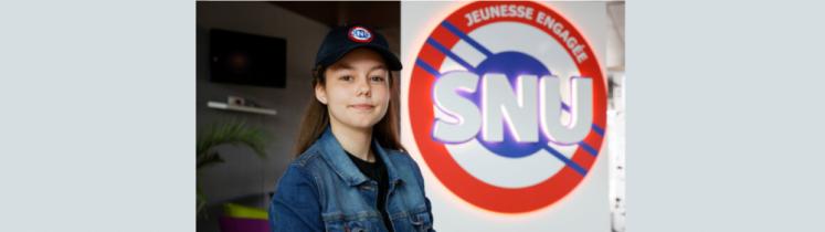 Une jeune fille du SNU