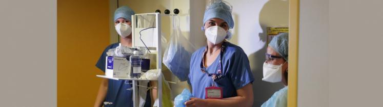 Des soignantes en hôpital