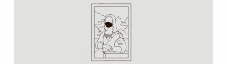 La Joconde avec un masque