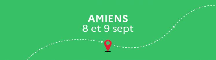 Le Train de la relance fait étape en gare d'Amiens