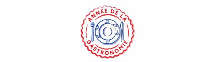 Le logo de l'année de la gastronomie