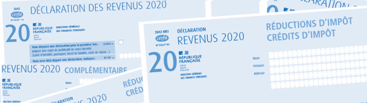 Feuillets de déclaration de revenus 2020