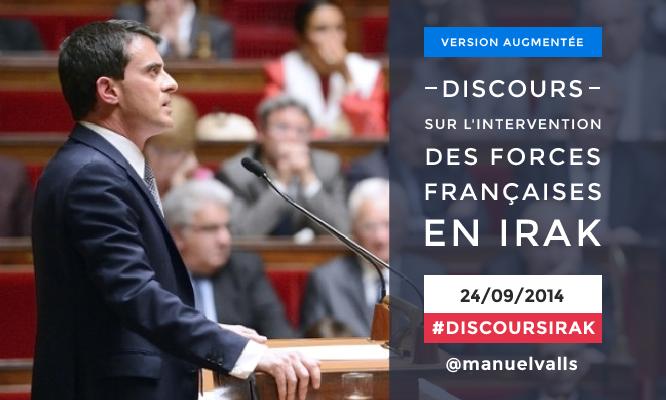 Déclaration de Manuel Valls sur l'engagement des forces françaises en Irak (version augmentée)