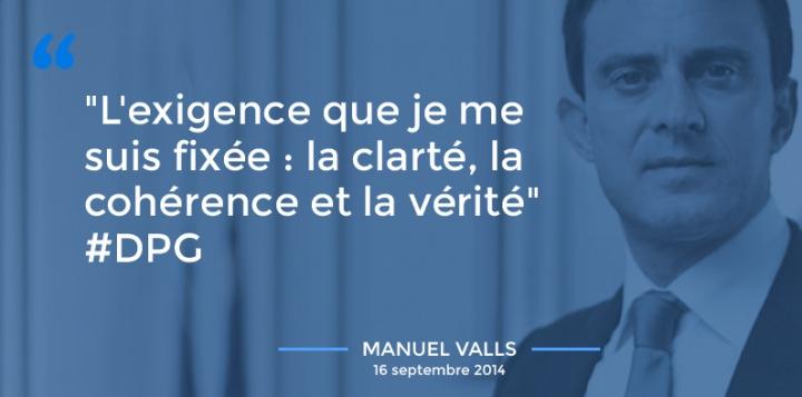 L'essentiel de la déclaration de politique générale de Manuel Valls