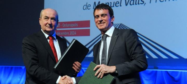 """""""L'État et la Région sont au rendez-vous des engagements pris en 2013"""" pour la Bretagne"""