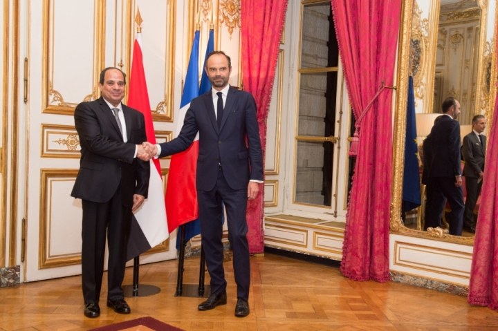 Entretien avec le Président de la République arabe d'Égypte