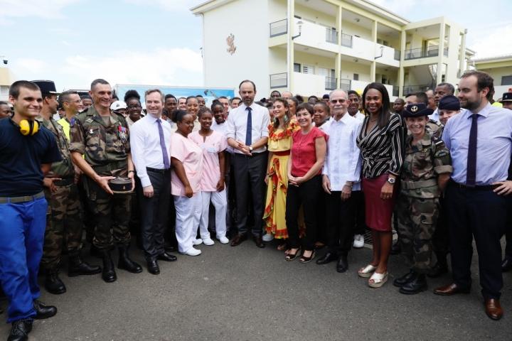 Edouard Philippe rencontre les jeunes du régiment du service militaire adapté (RSMA) de la Martinique