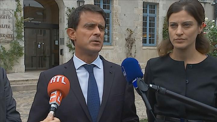 """Manuel Valls à Montargis : """"Après ces inondations, il y a eu une immense solidarité"""""""