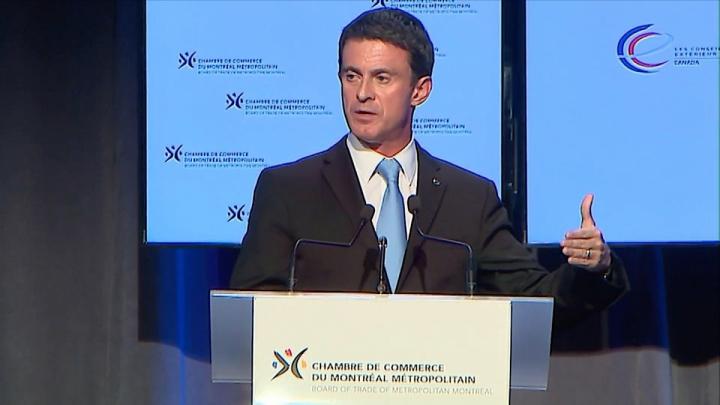 Manuel Valls à Montréal :