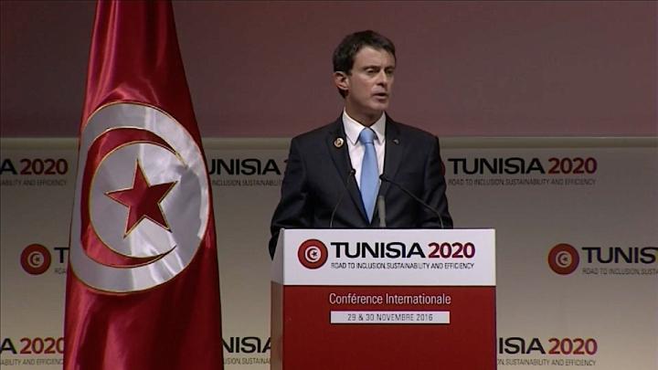 """""""Tunisie 2020"""" : Manuel Valls annonce une aide additionnelle de 250 millions d'euros par an"""