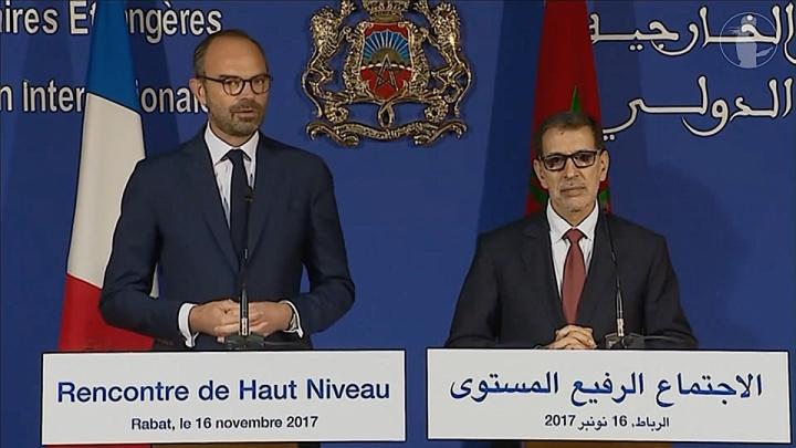 Conférence de presse conjointe d'Édouard Philippe et de Saâdeddine El Othmani, chef du Gouvernement du Royaume du Maroc